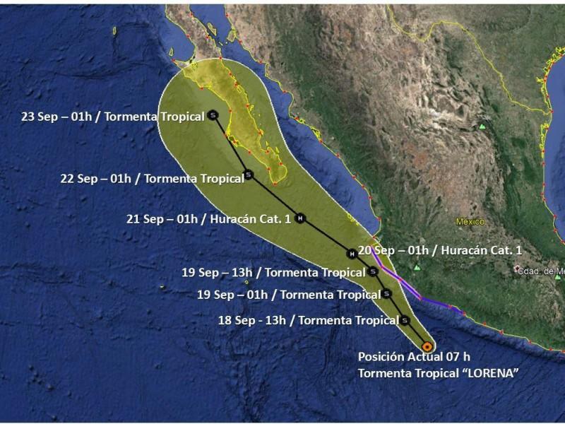 La tormenta tropical Lorena se intensifica
