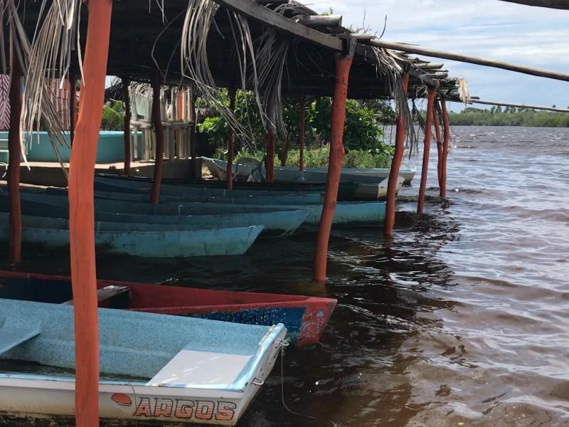 Laguna llena, enramaderos piden visitar Barra de Potosí