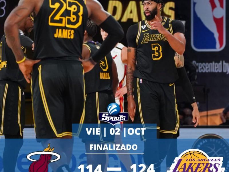 Lakers venció al Heat en el juego 2 de la Final