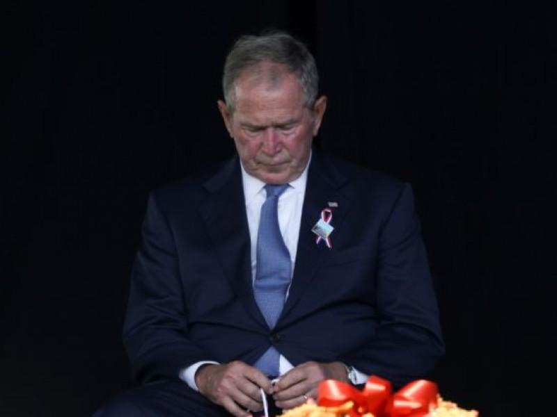 Lamenta George W. Bush desunión estadounidense en conmemoración del 9/11