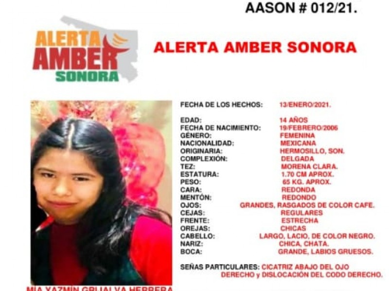 Lanzan Alerta Amber para localizar a Mia Jazmín