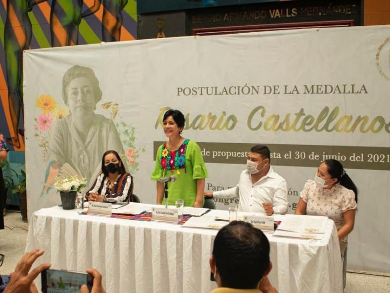 Lanzan convocatoria para la Medalla Rosario Castellanos 2021