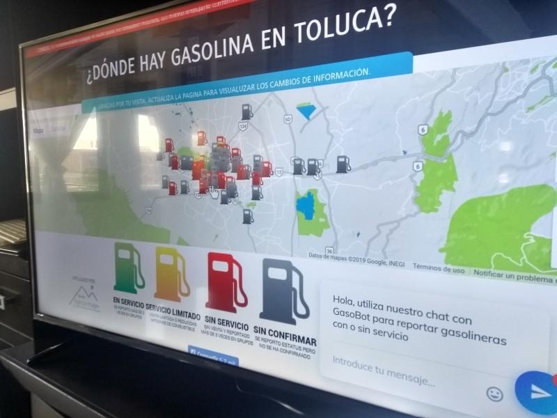 Lanzan plataforma para localizar gasolineras activas