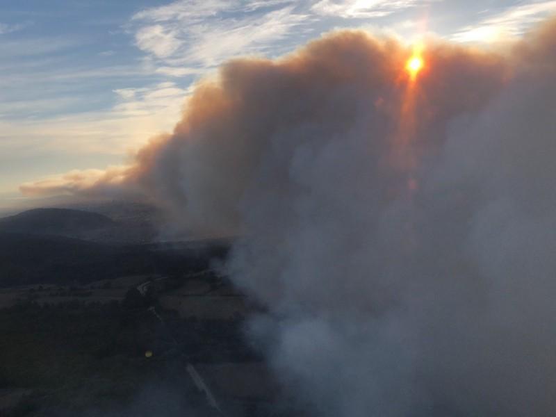 Las imágenes del incendio en La Primavera