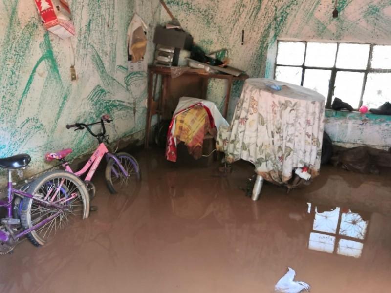 Las lluvias causaron afectaciones en 6 municipios de Zacatecas