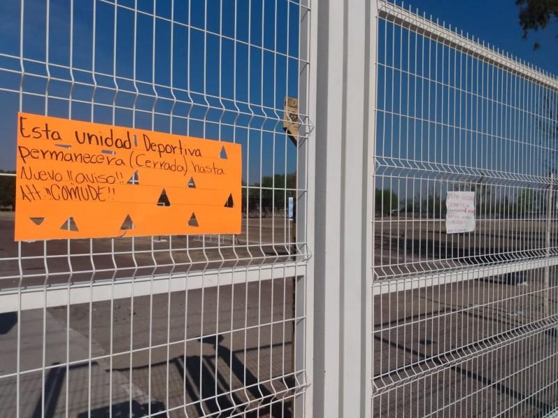 Unidades deportivas permanecerán cerradas hasta nuevo aviso