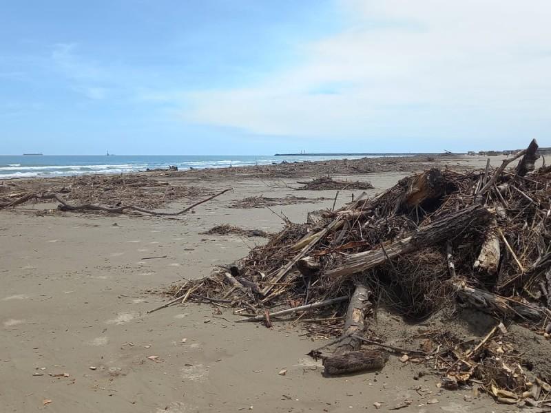 Lenta recuperación de la zona de playa en Tuxpan