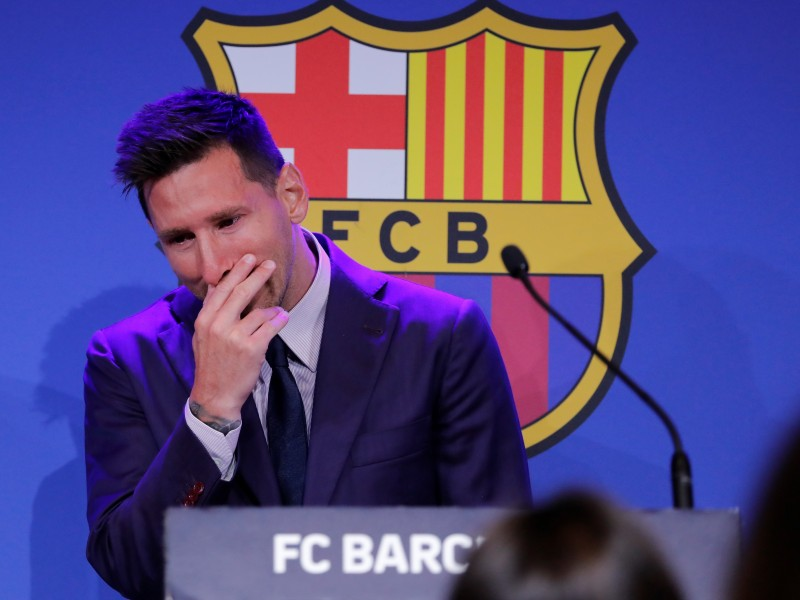 Leonel Messi confirmó su salida del Barcelona