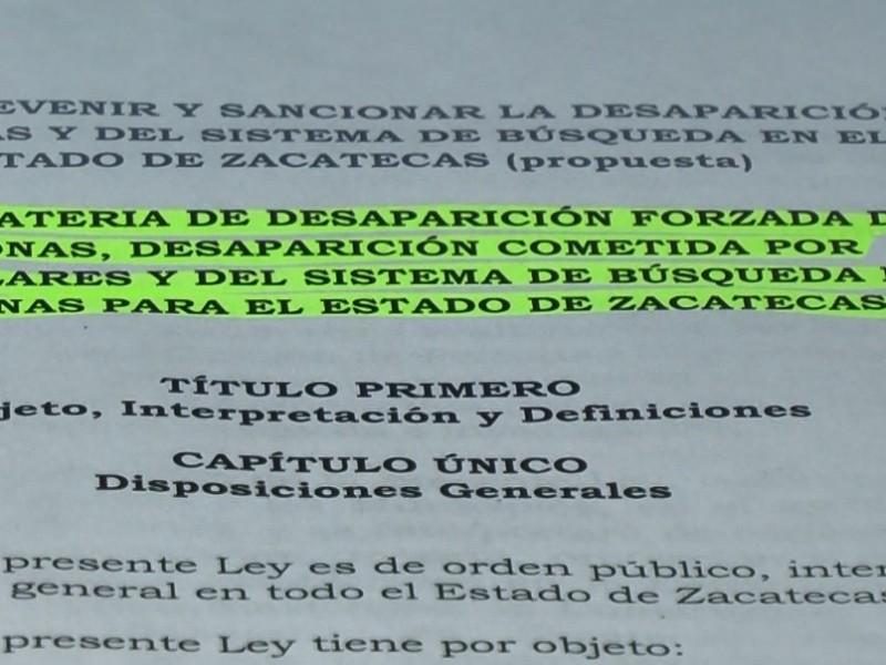 Ley de Desaparecidos podría aprobarse la próxima semana