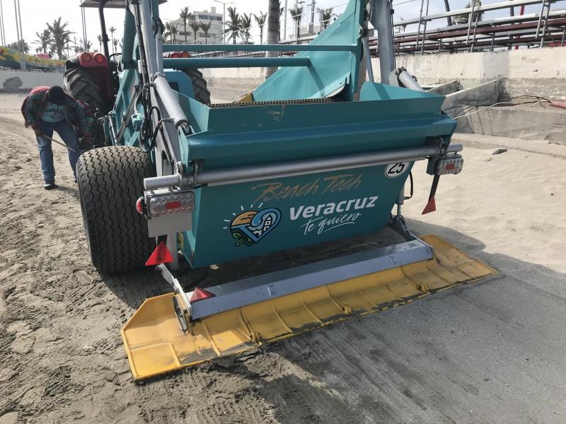 Limpiarán arena de Playas de Veracruz