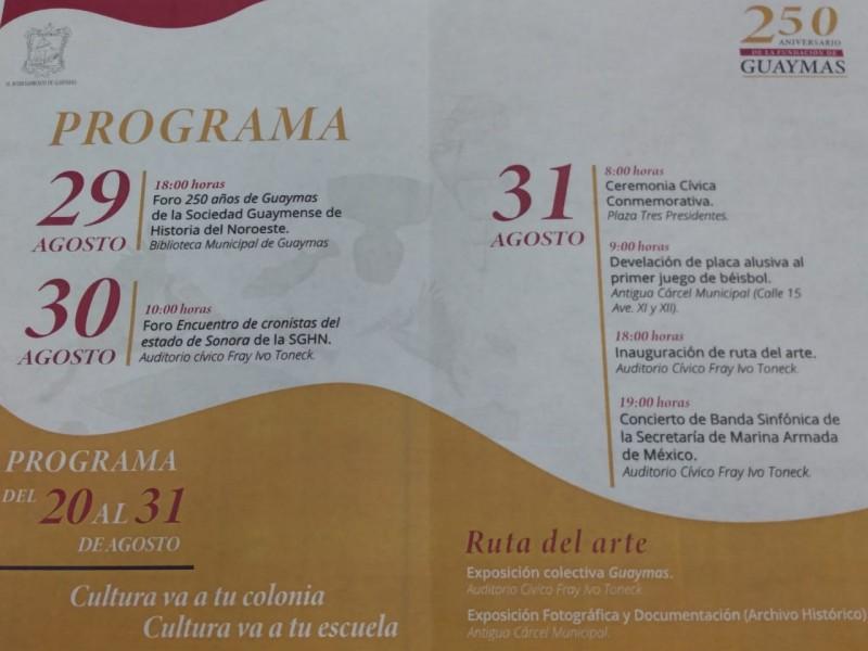 Listos para celebrar 250 Aniversario de Guaymas