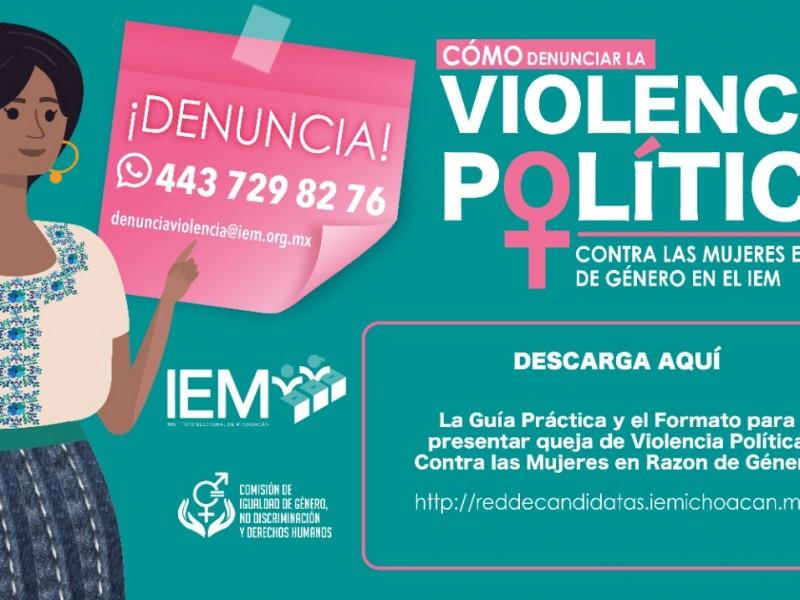 Llama IEM a presentar denuncias por violencia política de género