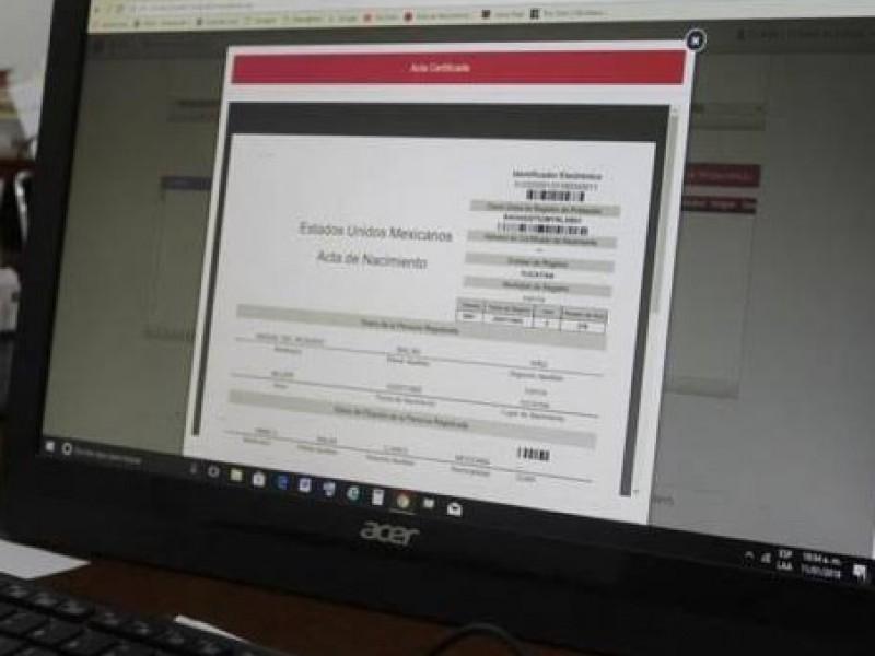 Llama Registro Civil a reconocer validez de actas en línea