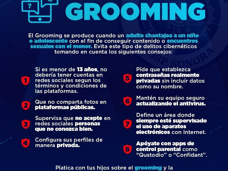 "llaman a no caer en ""Grooming"""