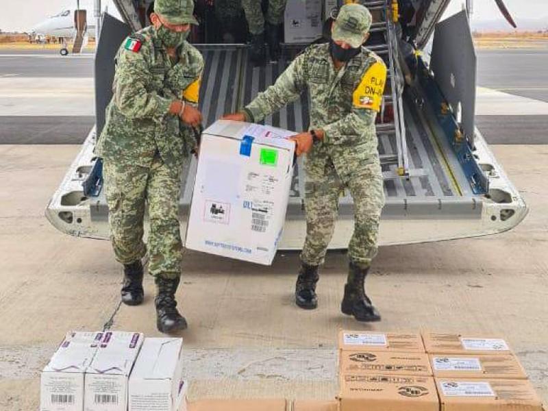 Llega segundo lote de vacunas COVID a Zacatecas