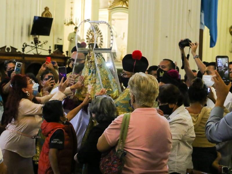 Llega Virgen de Zapopan a Catedral, previo a La Romería