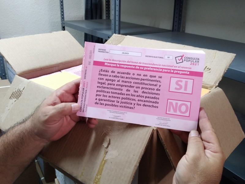 Llegan a Jalisco 6 millones de papeletas para consulta popular