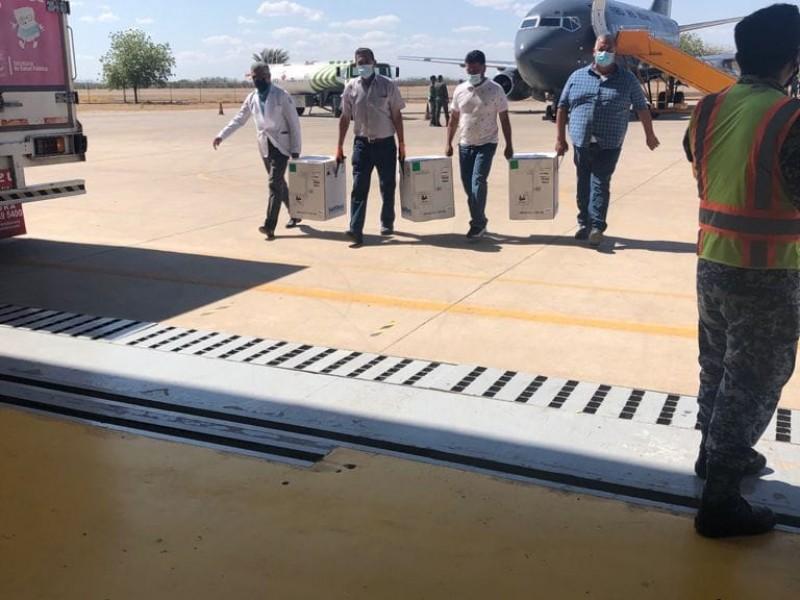 Llegan a Sonora 39 mil vacunas, serán destinadas a Guaymas