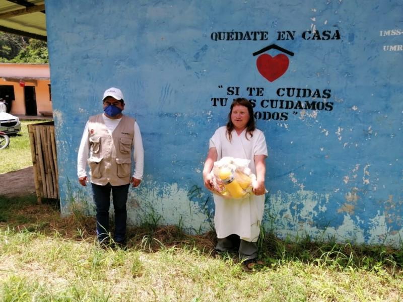 Llegan apoyos alimentarios a la Selva Lacandona