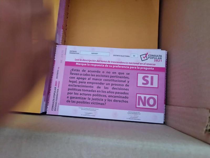 Llegan boletas para la consulta popular a Nayarit