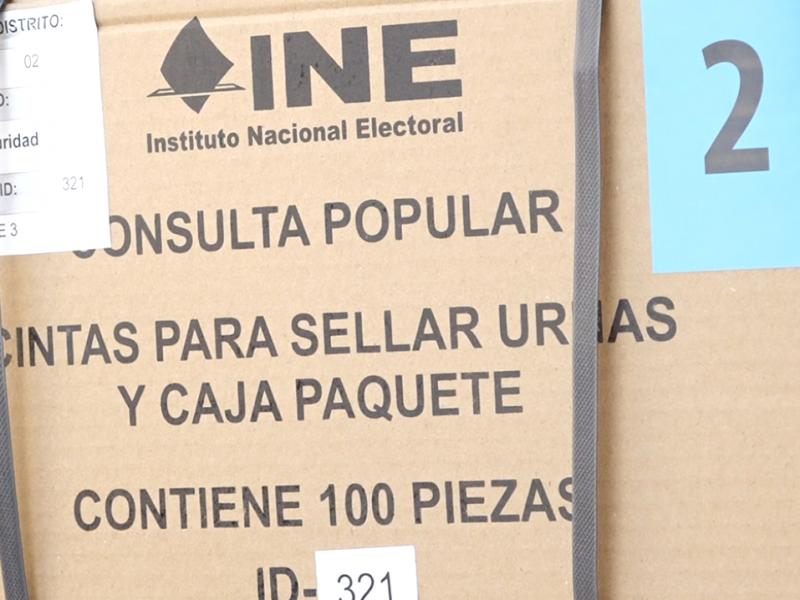Llegan  más de 300 mil papeletas para Consulta Popular