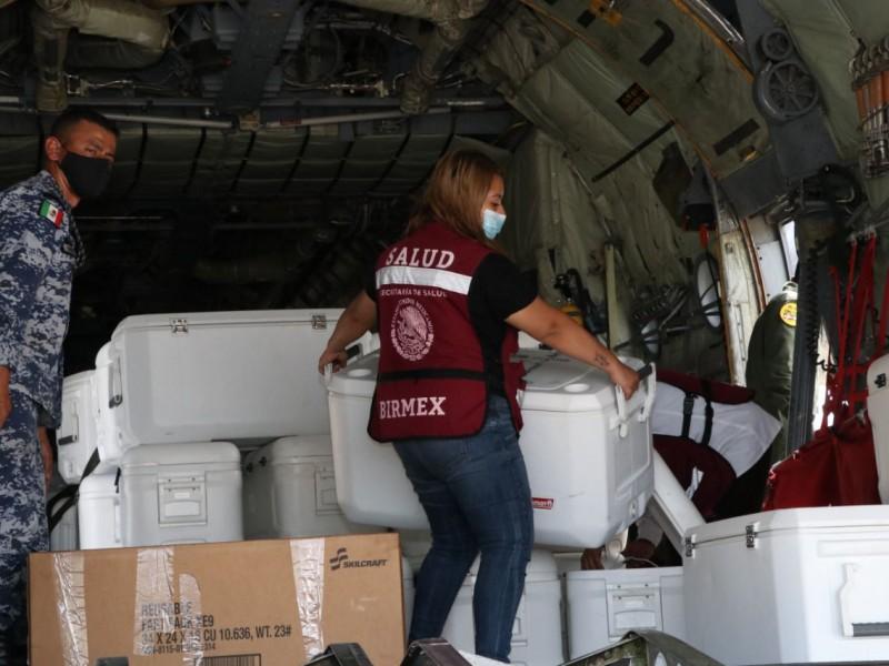 Llegan más de 70 mil vacunas Sinovac a Chiapas