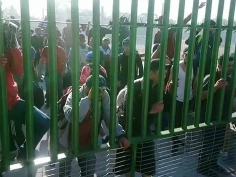 Llegan migrantes a frontera sur de México