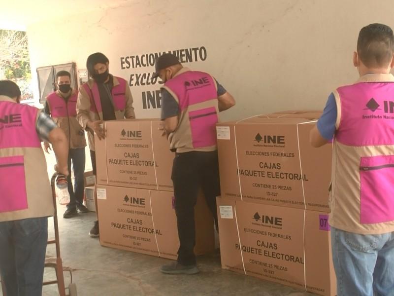 Llegan paquetes electorales al INE en Navojoa
