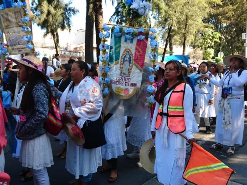 Llegan peregrinos a la Basílica de Guadalupe