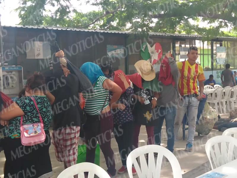 Llegan primeros migrantes a Albergue de Cd. Ixtepec