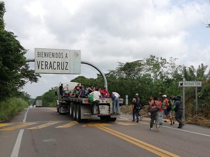 Llegan primeros migrantes a territorio Veracruzano