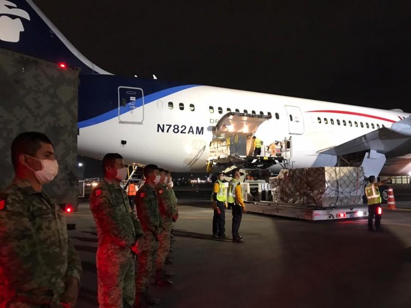 Llegaron a México insumos provenientes de China para el Covid-19