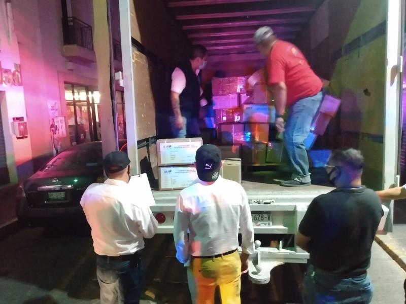 Llegaron boletas electorales al Comité Distrital del IEM Zamora