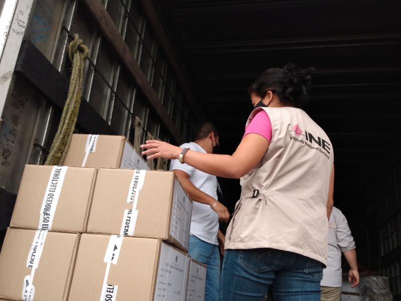 Llegaron las boletas electorales para el distrito federal 05 Zamora