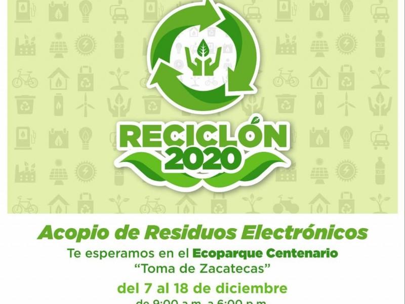 Lleve sus residuos electrónicos al reciclón 2020