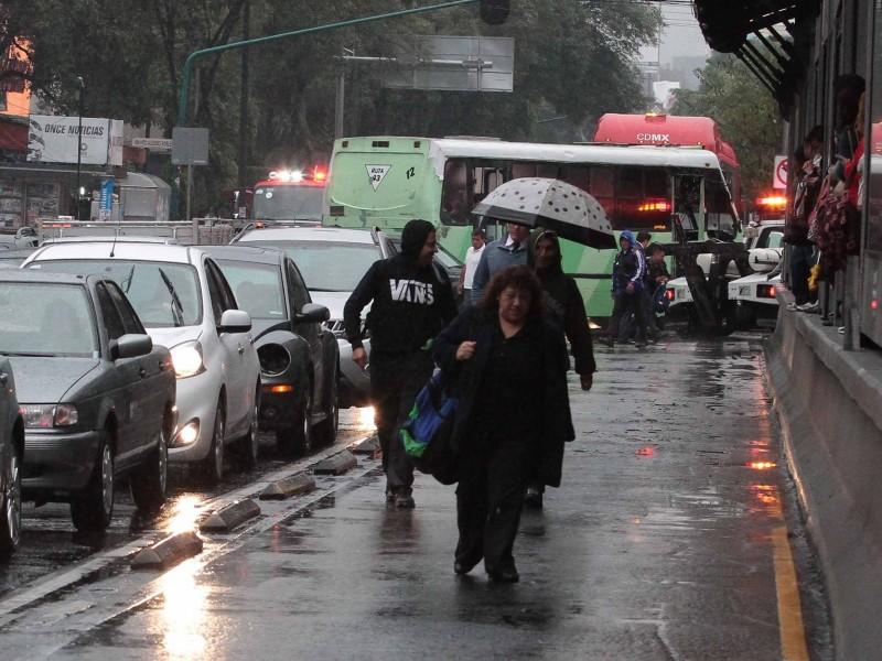 Llueve en al menos 4 delegaciones CDMX