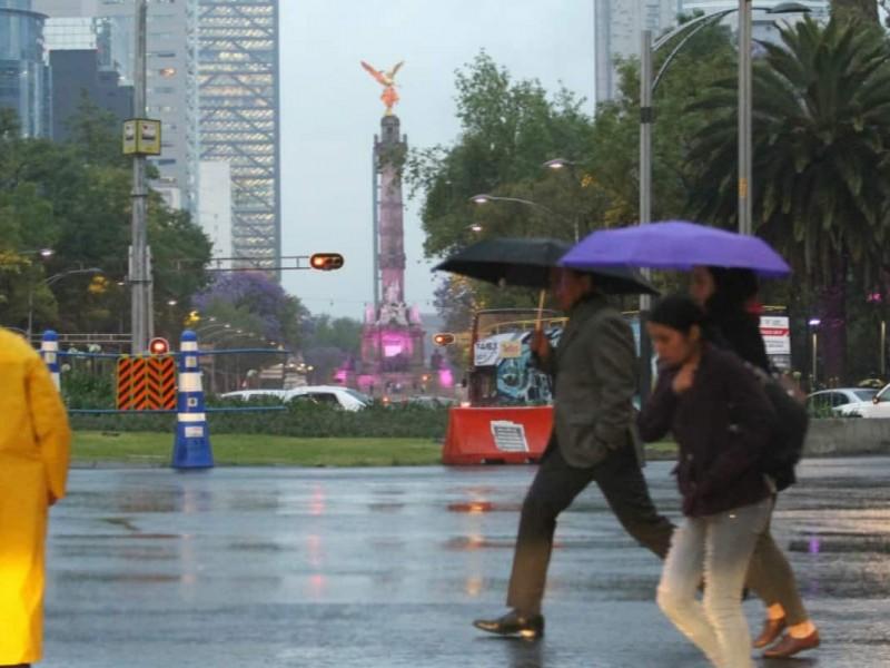 Llueve en al menos ocho alcaldías CDMX