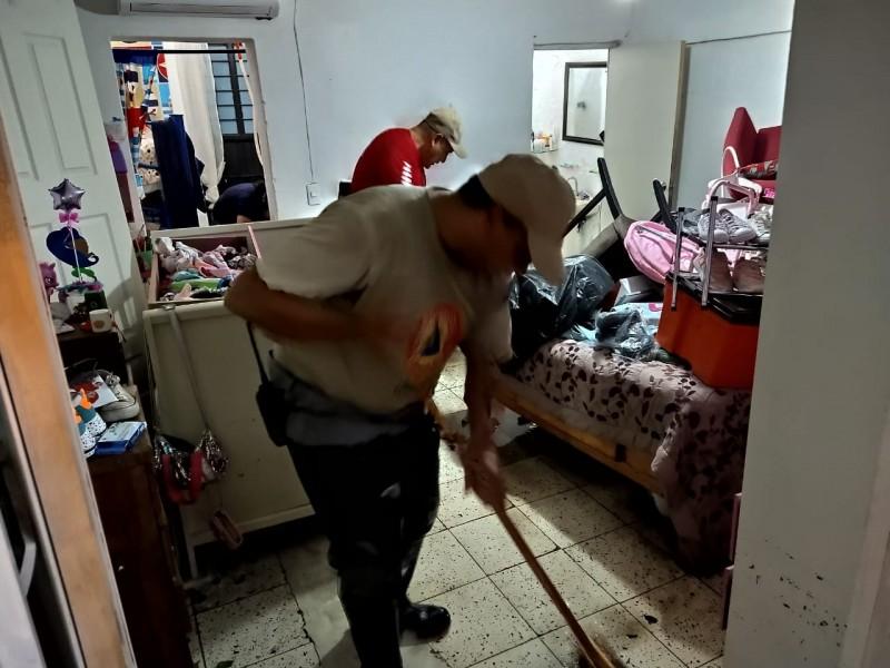 Lluvia deja 20 casas afectadas en Tlaquepaque