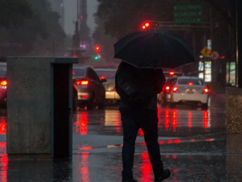 Lluvia en diferentes zonas de la CDMX