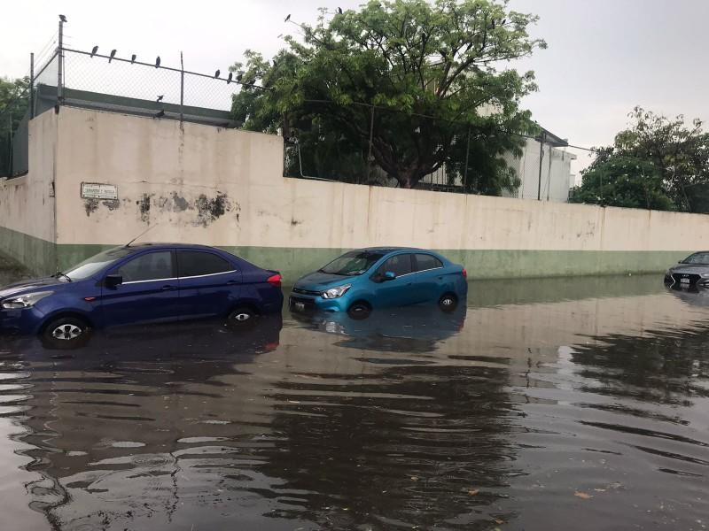 Lluvia en Veracruz deja inundación en Miguel Ángel de Quevedo