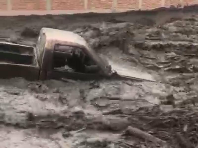 Lluvia provoca desbordamiento de Río San Gabriel