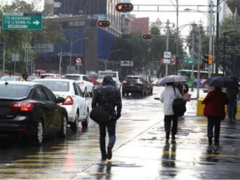 Lluvia se extiende a 11 delegaciones de CDMX