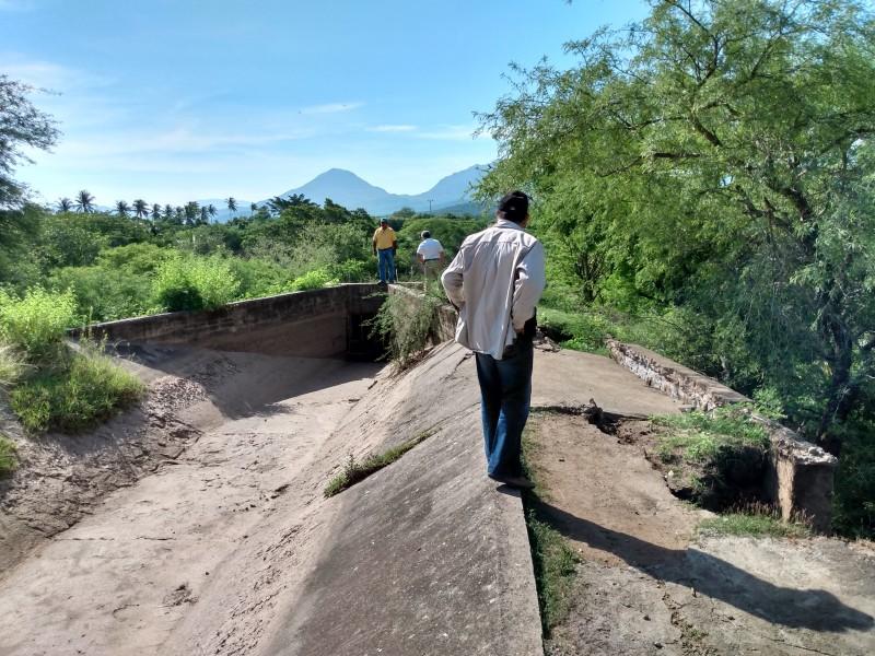 Lluvias afectan canal de riego Jalapa del Márquez