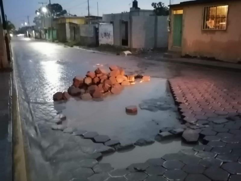 Lluvias deja afectaciones en junta auxiliar de Amozoc