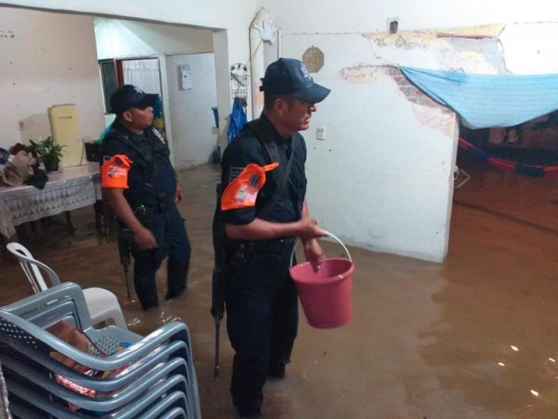 Lluvias dejan afectaciones en Tehuantepec