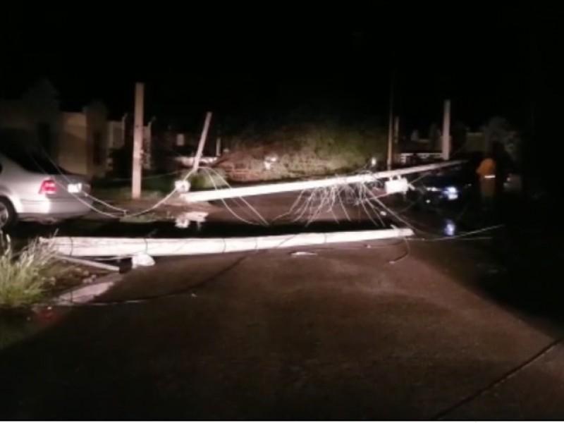 Lluvias dejan daños en Cajeme