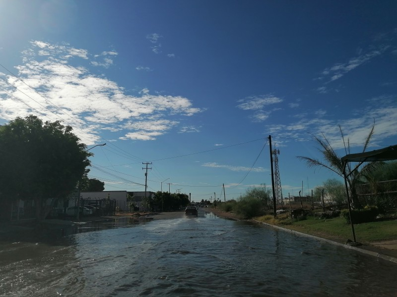 Lluvias dejan encharcamientos leves en Los Mochis