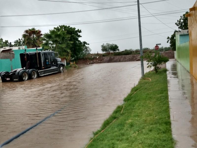 Lluvias en Los Mochis afecta sector Las Mañanitas
