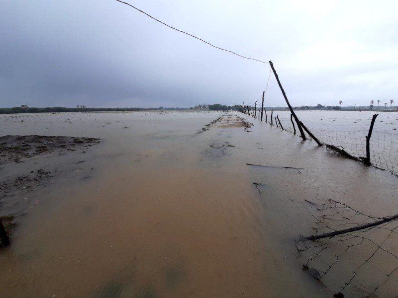 Lluvias generan inundaciones en San Blas Atempa