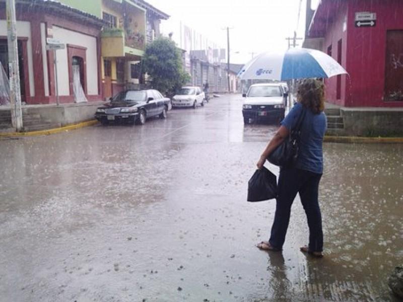 Lluvias intensas para dos regiones de Chiapas
